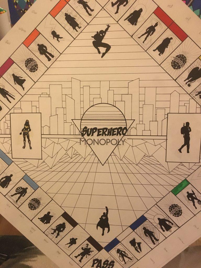 Superhero Monopoly progress 3