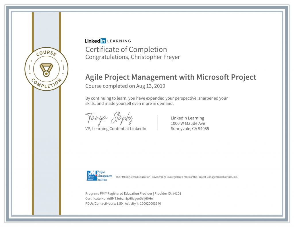 CertificateOfCompletion_Agile-Project-Management-with-Microsoft-Project-1