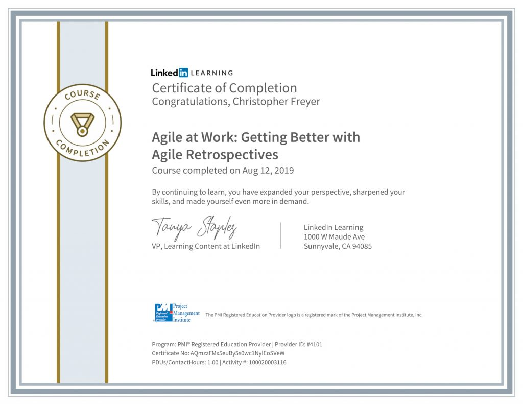 CertificateOfCompletion_Agile-at-Work_-Getting-Better-with-Agile-Retrospectives-1