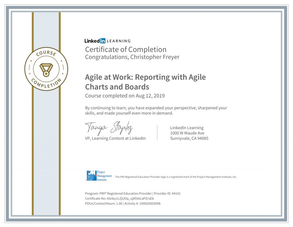 CertificateOfCompletion_Agile-at-Work_-Reporting-with-Agile-Charts-and-Boards-1