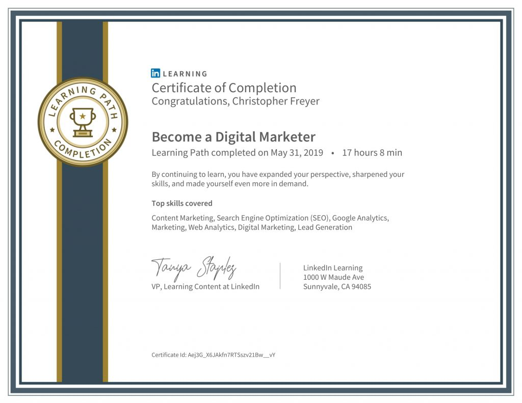 CertificateOfCompletion_Become a Digital Marketer-Chris-Freyer-1