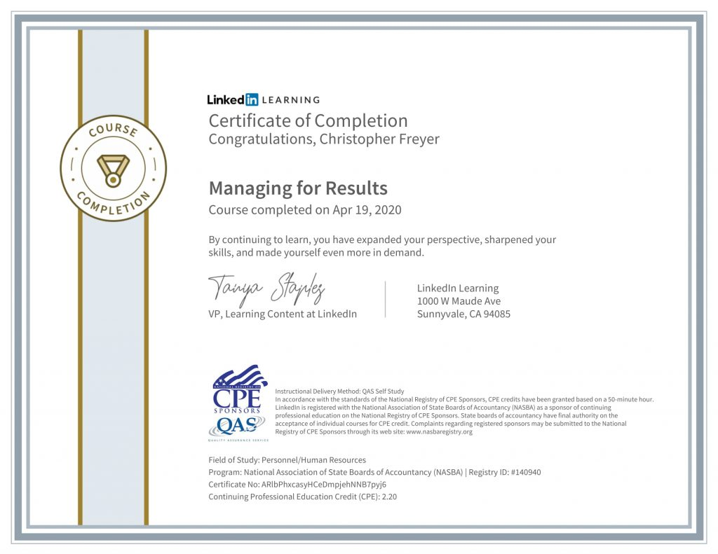 CertificateOfCompletion_Managing for Results-1-Chris-Freyer