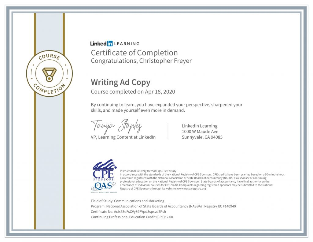 CertificateOfCompletion_Writing Ad Copy-1-Chris-Freyer