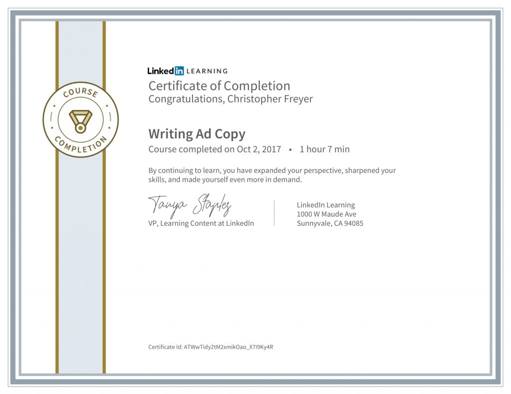 CertificateOfCompletion_Writing Ad Copy-Chris-Freyer-1
