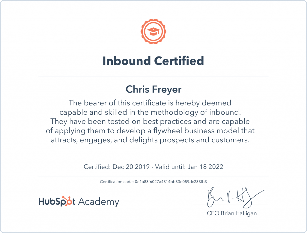 Indound Certified-Chris-Freyer