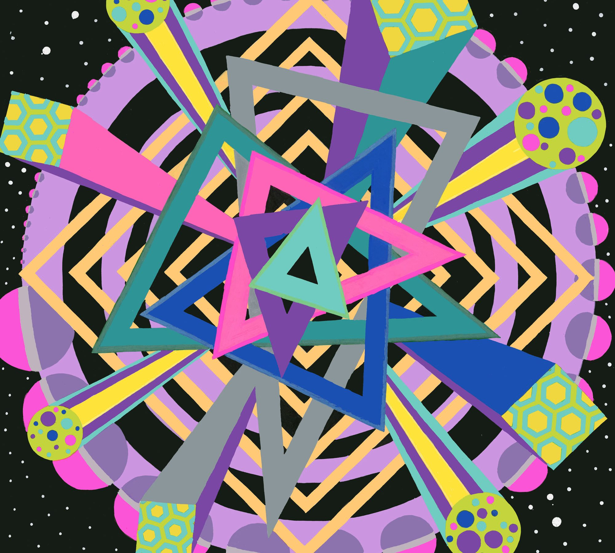 Mesmerize/Hypnotize is an art piece produced by Chris Freyer in 2018