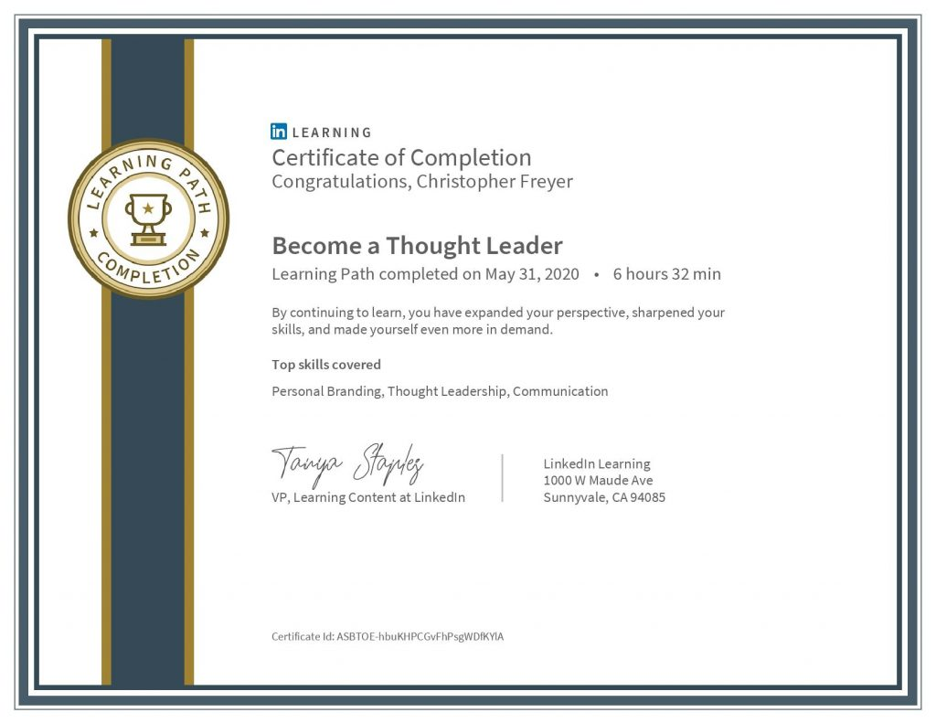 chris-freyer-CertificateOfCompletion_Become a Thought Leader