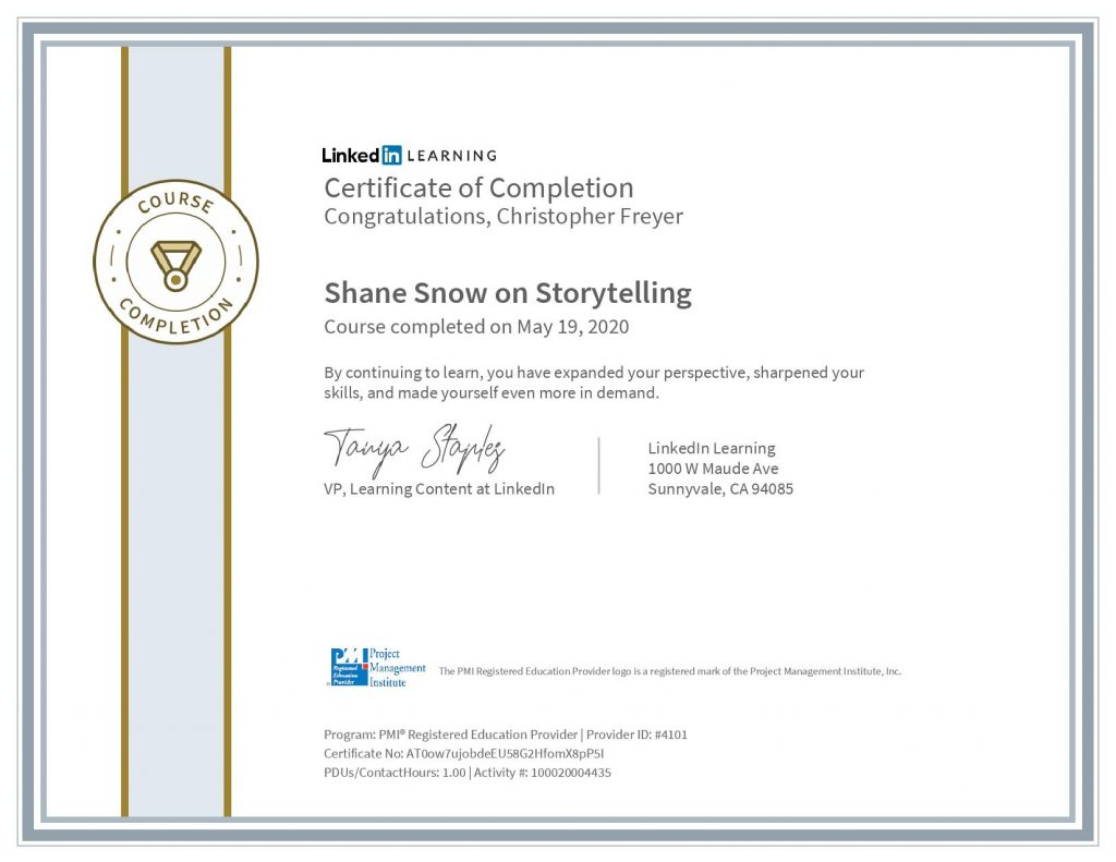 chris-freyer-CertificateOfCompletion_Shane Snow on Storytelling(1)